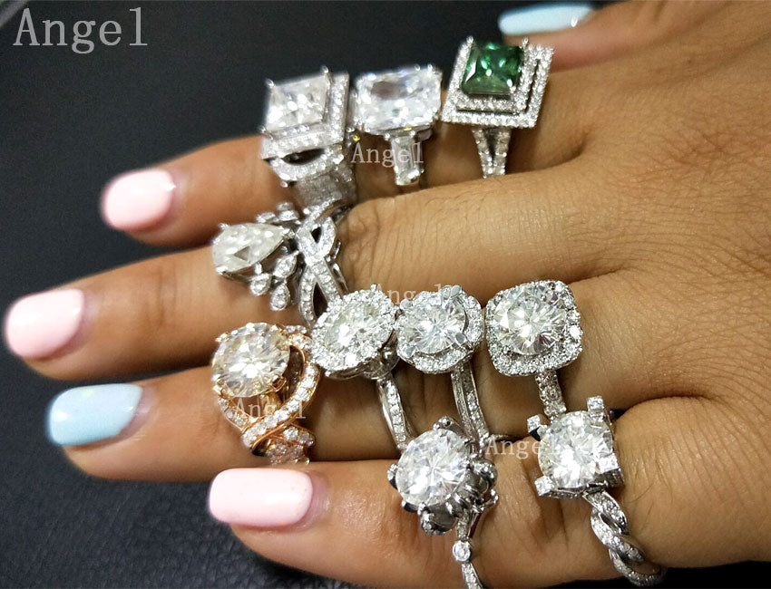 Customize Jewelry Service 1-10 Carat Moissanite Ruby Emerald Sapphire Diamond ring 18K 14K 10K 9K Engagement ring