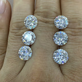 100% pass positive diamond tester 3 excellent cut 6.5mm 1cts D VVS loose moissanite gemstone diamond stone