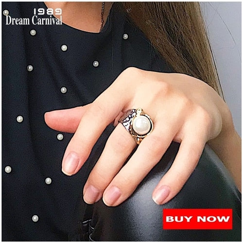 Stunning CZ Ring for Women Engagement Party Vintage Flower Ring Eye Catching Fuchsia Zircon Jewelry WA11688FU