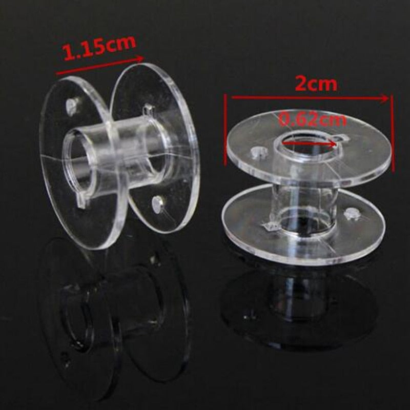 25Pcs Clear Sewing Machine Bobbins Spools Empty Bobbins Spools Plastic Storage Box For Home Sewing Accessories Tools AA7650