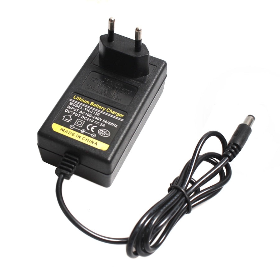 16.8V 2A 21V 1A 12.6V 1.5A 8.4V 2A 18650 Lithium Battery Charger DC 5.5MM*2.1MM 110-220V Lithium Li-ion Battery Wall Charger