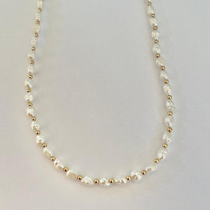 RIGI - RICE PEARL NECKLACE
