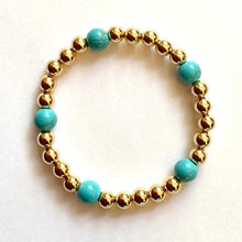 Load image into Gallery viewer, GOLD BEADS - HOWLITE