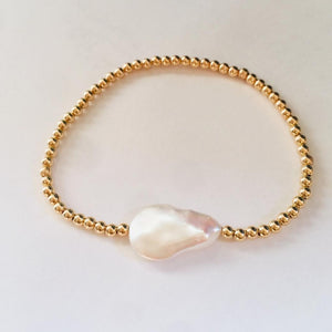 GOLD BEADS BAROQUE PEARL