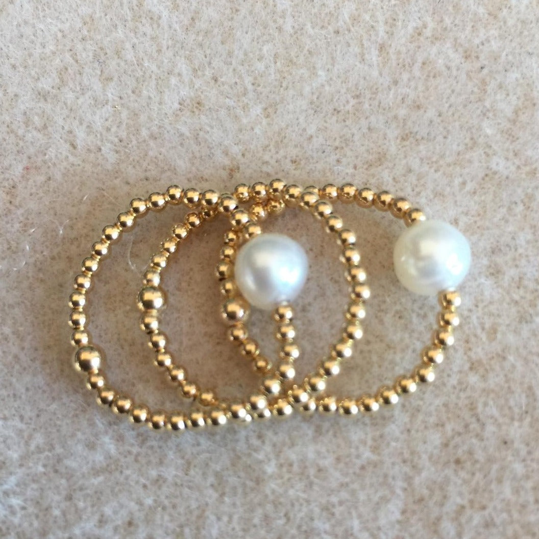 Bead Ball Pearl Ring