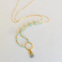 Load image into Gallery viewer, AQUA CIRCLE NECKLACE