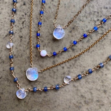 Load image into Gallery viewer, BLUE MOON SAPPHIRE NECKLACE