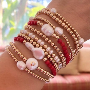 CORAL BEADS BAROQUE PEARL