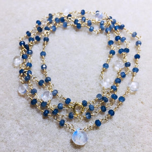 BLUE MOON SAPPHIRE NECKLACE
