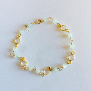 Aventurine Rose Quartz Beaded Bracelet