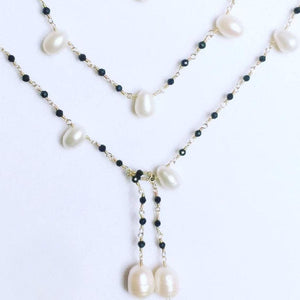 PEARL TIE NECKLACE