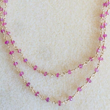 Load image into Gallery viewer, Pink Sapphire Necklace