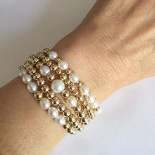 Load image into Gallery viewer, GOLD BEADS PEARL