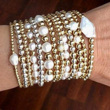 Load image into Gallery viewer, Gold Ball Stretch Bracelets