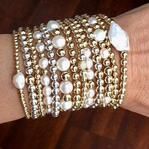 Gold Ball Stretch Bracelets