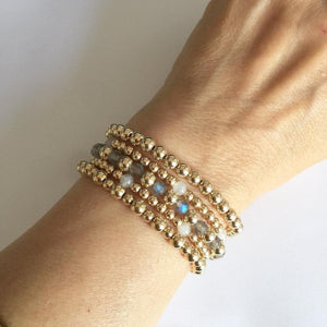 Gold Bead Stacking Bracelet
