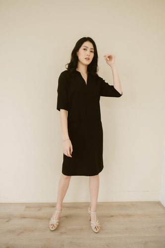 V-Neck Dress - [product_variant] - [vendor]- Kotoko