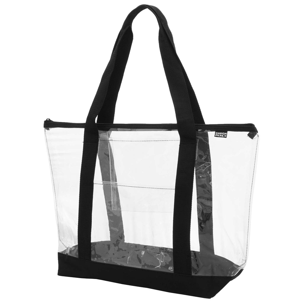 Ensign Peak Clear Zipper Tote with Color Trim