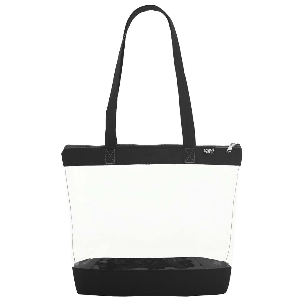 Ensign Peak Clear Shoulder Zipper Tote