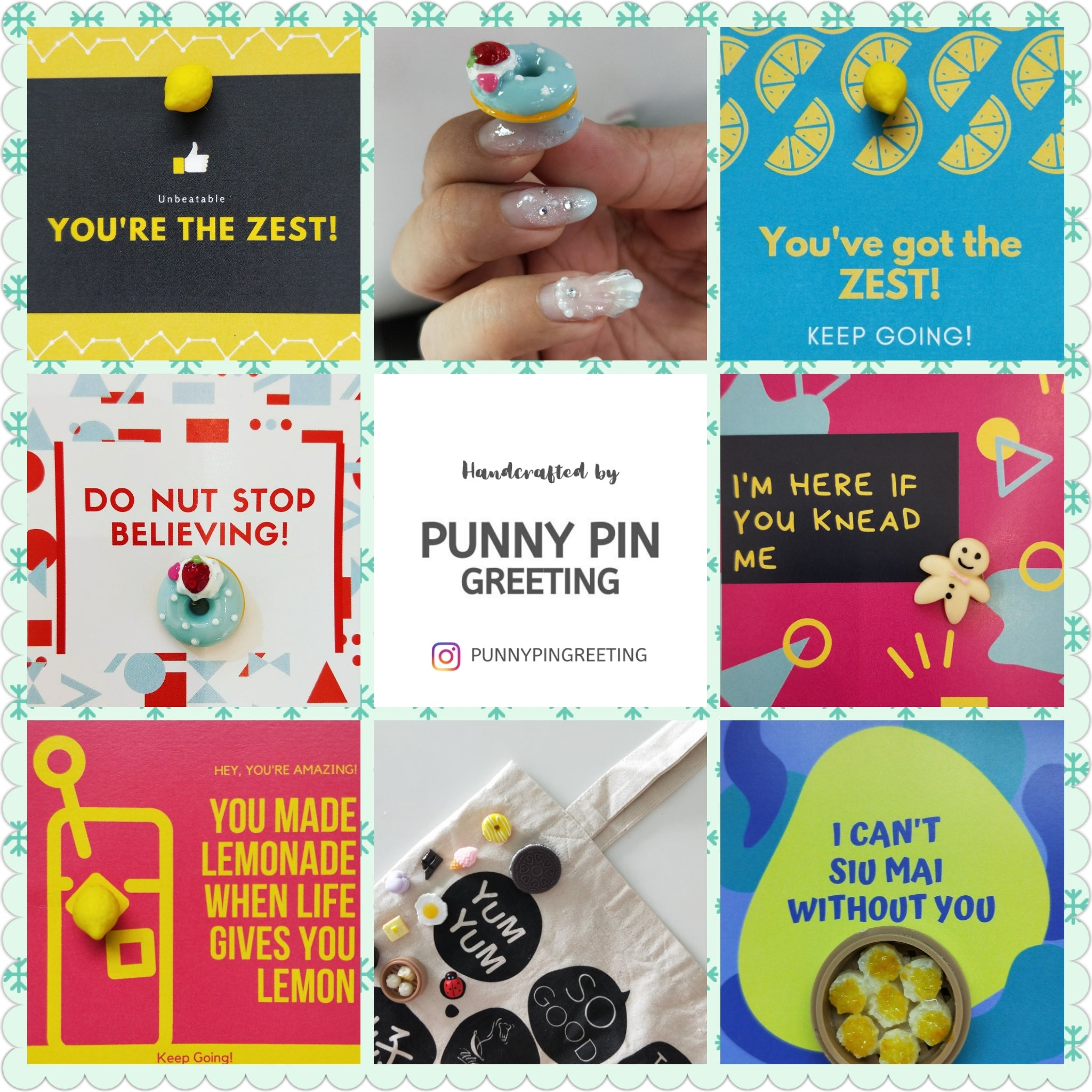 Pin-Card ~ Encouragement Messages - Set of Assorted 10 (all English)