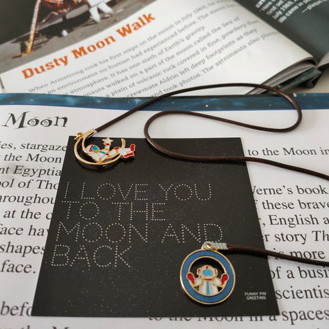 Book Mark-Card ~ I Love You To The Moon and Back