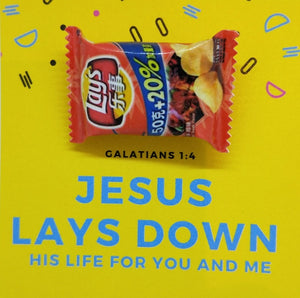 Pin-Card ~ Jesus will lay down his life for you