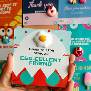 Fridge Magnet-Card ~ Thank you for being an EGG-cellent friend