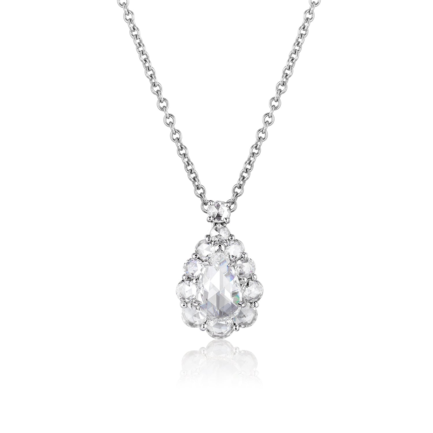 Rose-Cut Diamond Pendant
