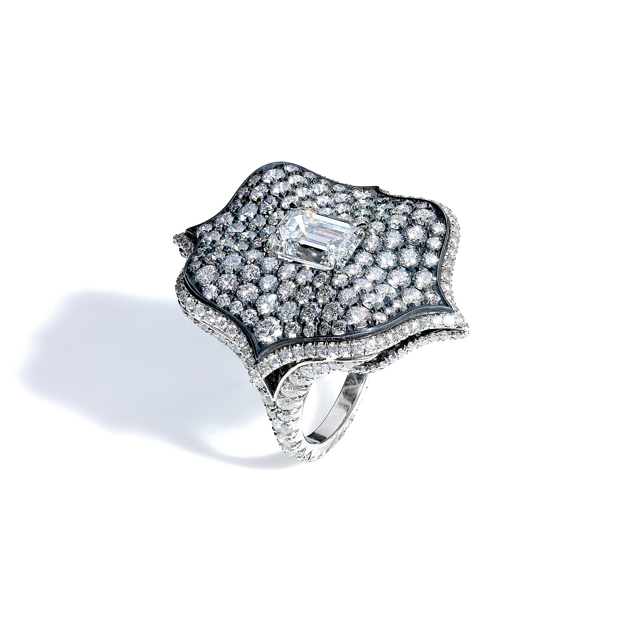Diamond Lotus Ring