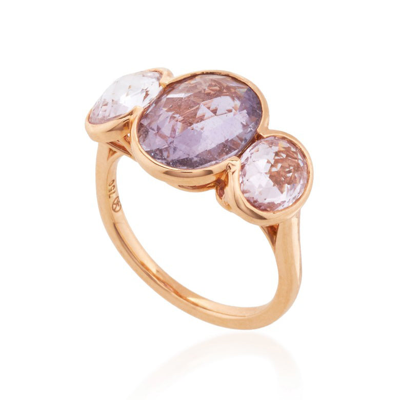 Purple & Orange Sapphire Ring