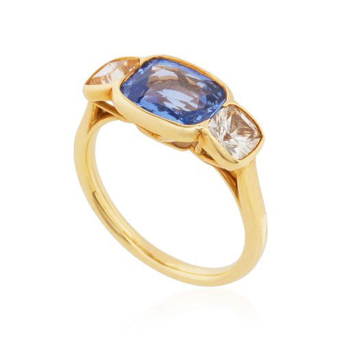Blue & Yellow Sapphire Ring
