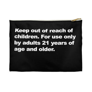 Full Disclaimer Black Zippered Stash Bag