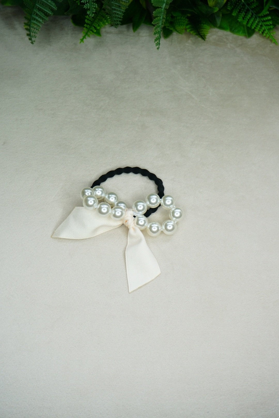 Pearl Bow Hair tie - PhivestarhairboutiquePearl Bow Hair tie