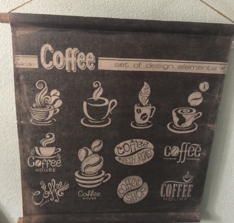 Canvasdoek Coffee