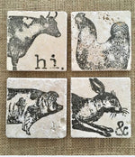 Afbeelding in Gallery-weergave laden, Stamp Iron Orchid Stamps Farm Animals