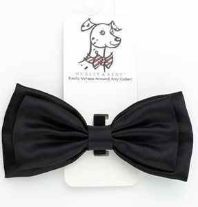 Black Satin Bow Tie by Huxley & Kent