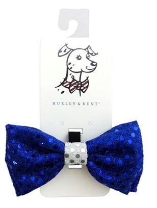Blue Disco Dot Bow Tie by Huxley & Kent