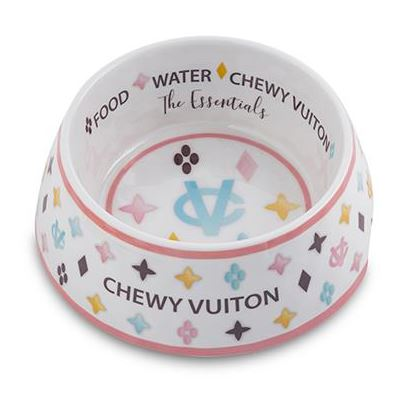 Chewy Vuiton Bowl (White)