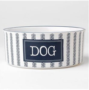 Country Blue Dog Bowls