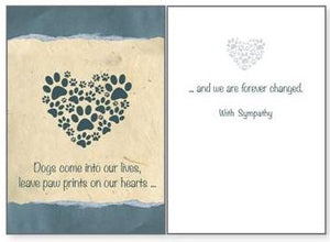 Dog Speak - Dogs Come Into Our Lives - Greeting Card - Sympathy
