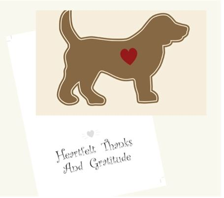 Dog Speak - Heartfelt Thanks - Greeting Card - Thank You
