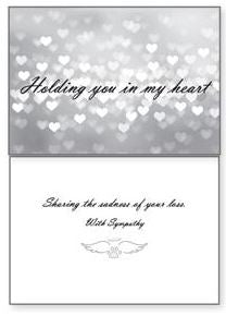 Dog Speak - Holding You In My Heart - Greeting Card - Sympathy