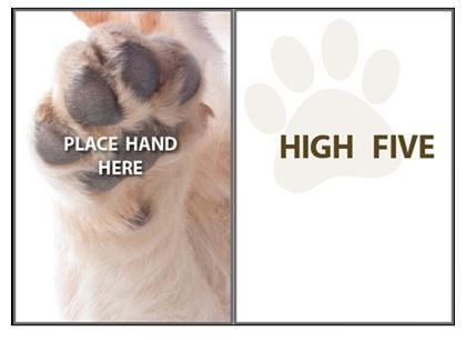 Dog Speak - Place Hand Here - Greeting Card - Encouragement
