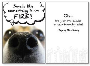 Dog Speak - Smells Like Fire - Greeting Card - Birthday
