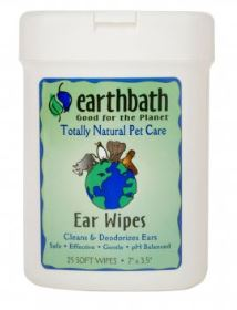 Earthbath® Ear Wipes for Cat & Dog 25 Count