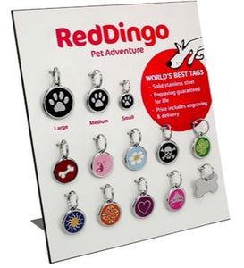 Red Dingo Large Dog Tags