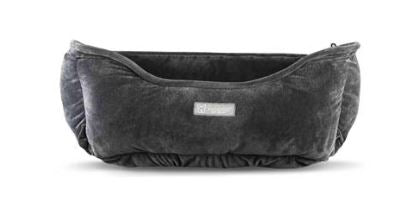 NANDOG MICRO PLUSH REVERSIBLE DARK GRAY DOG BED