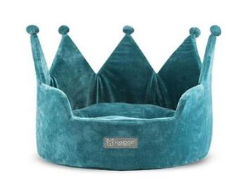 CROWN BED MICRO PLUSH TEAL