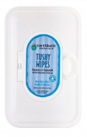 Earthbath® Rosemary & Chamomile Tushy Wipes for Cat & Dog 72 Count