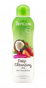TropiClean Berry & Coconut Deep Cleansing Shampoo for Pets, 20oz